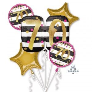 Zestawy balonów na urodziny dorosłych - Zestaw balonów na 70 urodziny / 3736701