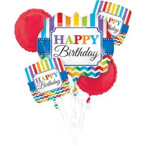 """Zestawy balonów na urodziny dorosłych - Zestaw balonów na urodziny """"Happy Birthday"""""""