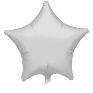 Balony foliowe Gwiazdki - Balon foliowy metalizowany - Gwiazda srebrna / 48 cm