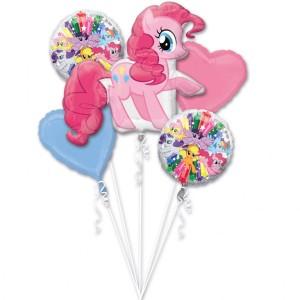 """Bukiet 5 balonów foliowych """"Pinkie Pie"""""""