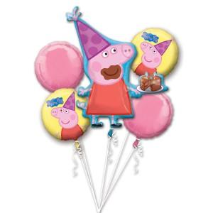 """Bukiet 5 balonów foliowych""""Peppa Pig"""""""
