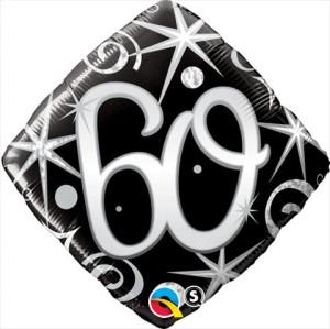 """Balony foliowe na okrągłe urodziny - Balon foliowy 18"""" """"Liczba 60"""""""