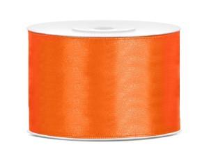 Tasiemki satynowe 50 mm - Tasiemka satynowa, pomarańczowa / 50 mm
