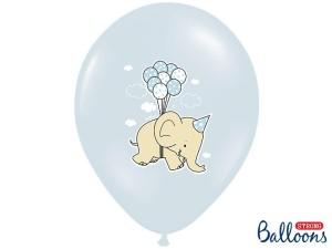 Balony lateksowe z nadrukiem - Balony na Narodziny dziecka ze Słonikiem / SB14P-255-000/6