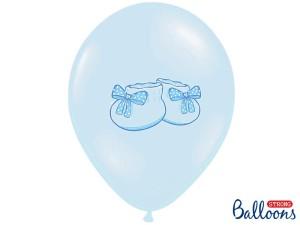 """Balony lateksowe z nadrukiem - Balony na Narodziny dziecka lateksowe """"Bucik"""" / SB14P-225-011/6"""