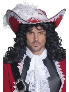 Kapelusze - Kapelusz kapitana piratów czerwony