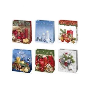 Torebki na prezenty - Torba świąteczna / 19x23x10,5cm