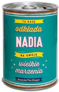 Skarbonki z imieniem - Skarbonka z imieniem Nadia PRZECENA