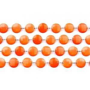Girlanda kryształowa, pomarańcz, 1m