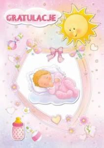 Karnety okolicznościowe - Kartka na Narodziny dziecka / GG01