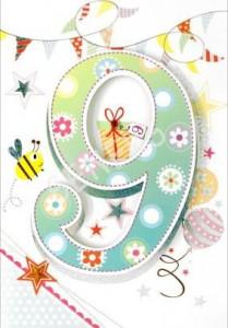 Kartki urodzinowe - Kartka urodzinowa na 9 urodziny / HM-200-877