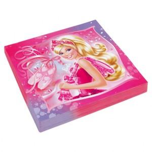 Serwetki Barbie Różowe Pantofelki 33x33cm