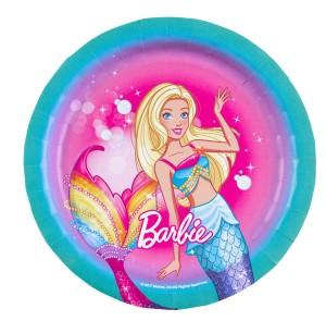 Talerze okrągłe Barbie Dreamtopia 18cm