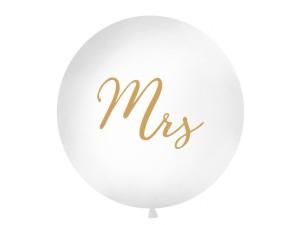 """Balony lateksowe Olbo - Balon lateksowy OLBO 1m z nadrukiem """"Mrs"""", biały OLBON11D-008-019"""
