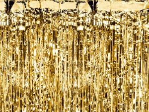 Kurtyny foliowe - Dekoracja - foliowa kurtyna na drzwi - fotościanka Party, złota / 90 x 250cm