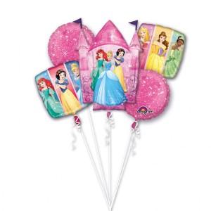 """Bukiet 5 balonów foliowych """"Księżniczki"""""""
