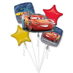 """Bukiet 5 balonów foliowych """"Lightning McQueen"""""""