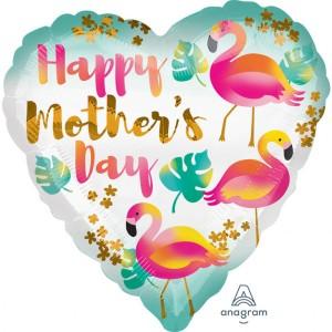 """Balony na Dzień Matki - Balon foliowy standard """"Happy Mother`s Day"""" okrągły 43cm"""