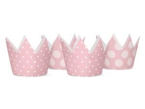 Korony - Zestaw różowych koron Party, mix