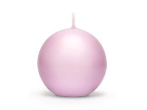 Świeca matowa kula, jasny różowy, 8 cm