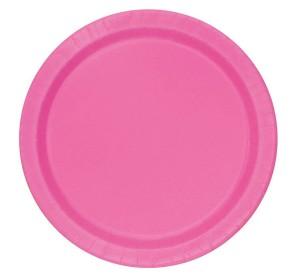 Talerzyki papierowe, różowe, 18 cm