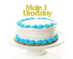 """Dekoracja na tort Topper """"Moje 1 Urodziny"""", złota, 18.5 x 9 cm"""