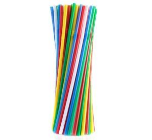 Rurki (słomki) łamane, mix kolorów, 5x210mm