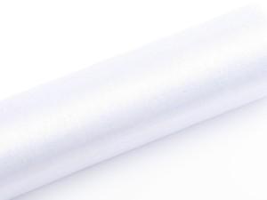 Organzy gładkie - 16 cm - Organza gładka, biała / 0,16x9 m