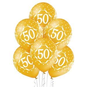Balony lateksowe 50 Rocznica
