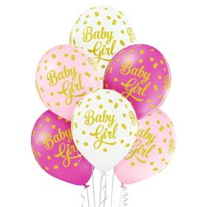 """Balony lateksowe z napisami - Balony na Narodziny dziecka lateksowe """"Baby Girl"""" / 5000218"""