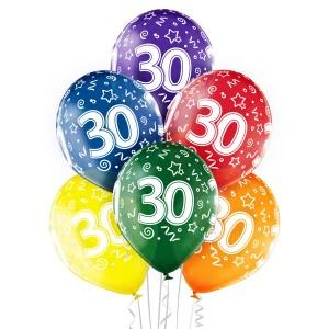 Balony lateksowe na okrągłe urodziny - Balony na 30 urodziny / 5000203