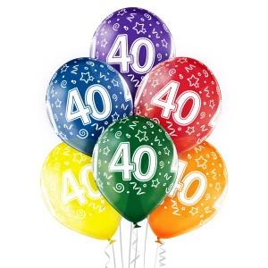 Balony lateksowe na okrągłe urodziny - Balony na 40 urodziny / 5000205