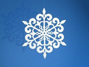 Dekoracje papierowe - Dekoracje Śnieżynki papierowe / 9 cm