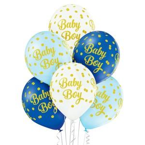 """Balony lateksowe z napisami - Balony na Narodziny dziecka lateksowe """"Baby Boy"""" / 5000216"""