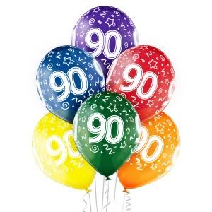 Balony lateksowe na okrągłe urodziny - Balony na 90 urodziny / 5000212