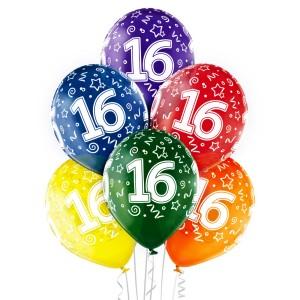 Balony lateksowe 16 Urodziny