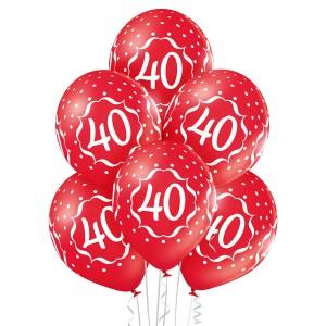 Balony lateksowe 40 Rocznica