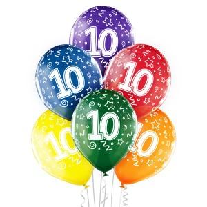 Balony lateksowe na okrągłe urodziny - Balony na 10 urodziny / 5000200