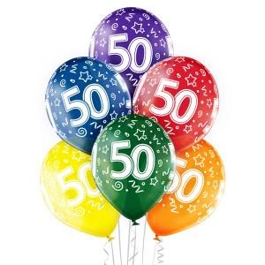 Balony lateksowe na okrągłe urodziny - Balony na 50 urodziny / 5000207