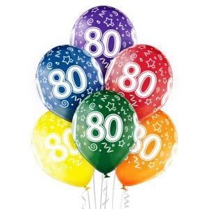 Balony lateksowe na okrągłe urodziny - Balony na 80 urodziny / 5000194