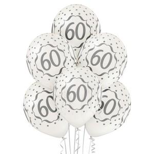 Balony lateksowe 60 Rocznica