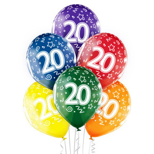 Balony lateksowe na okrągłe urodziny - Balony na 20 urodziny / 5000194