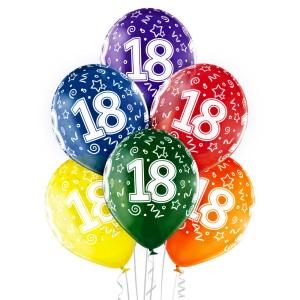 Balony lateksowe 18 Urodziny