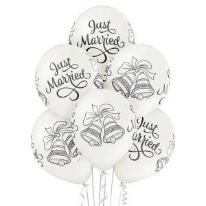 "Balony lateksowe ""Just Married Bells"""
