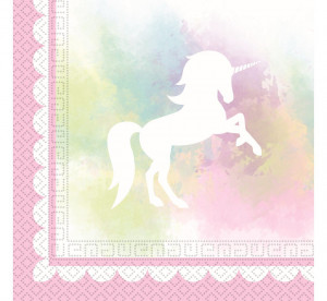 """Serwetki papierowe z nadrukiem - Serwetki papierowe """"Believe In Unicorns"""", 33 x 33 cm / 89342"""