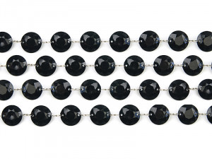 Girlanda kryształowa, czarny, 1m