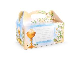 Pudełka na ciasto komunijne - Ozdobne pudełka na ciasto komunijne / 19x14x9 cm PUDCS7