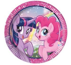 """Talerzyki papierowe """"Pony & Friends"""", 23 cm"""