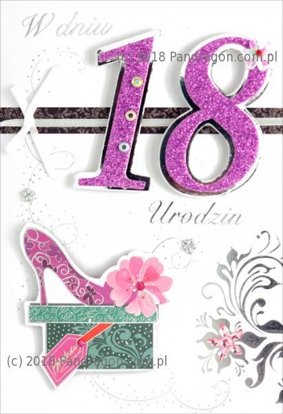 Prezenty na 18 urodziny, kartki, skarbonki, kubki, szklanki