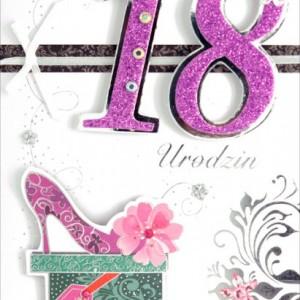 Kartki i pamiątki na 18 urodziny